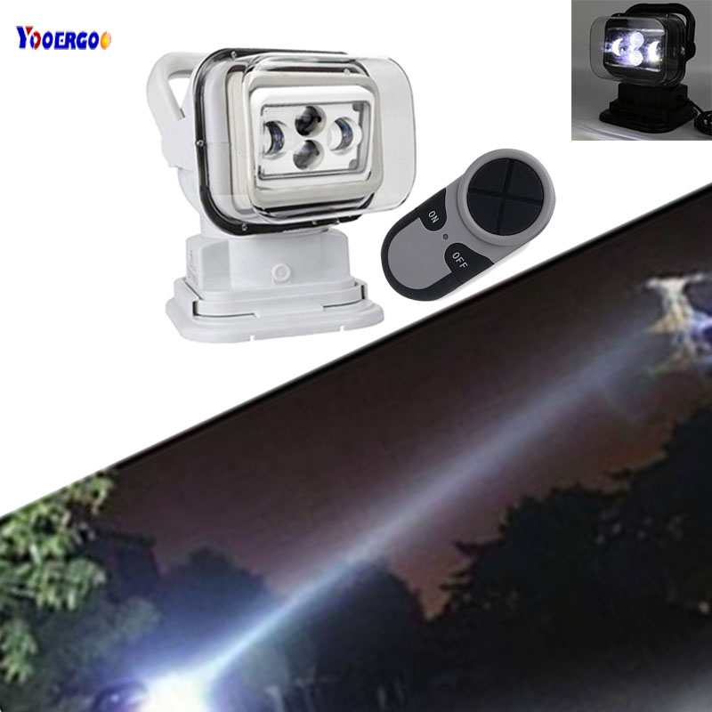 1pcs Wireless 60w Led Driving Search light Marine Search Light Remote Control Spotlight for hunting/boat off-road