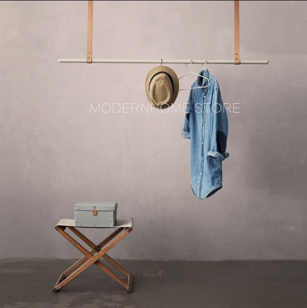 Modern Design Loft Metal Fashion Popular Adjustable Roof Hanging Extraordinary Hanging Coat Rack With Storage