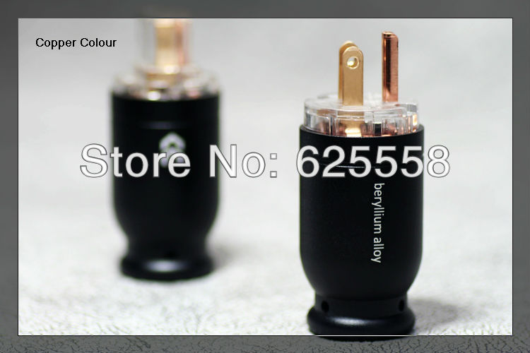 Hifi audio  Alloy Series -126 Beryllium Alloy Hi-End US Male & female AC Plug 2sets 4pcs hifi audio 3pin male