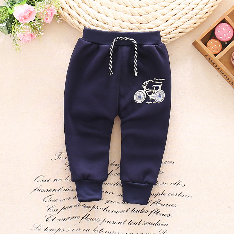 Autumn-and-winter-and-warm-baby-pants-1-piece-cotton-cartoon-bicycle-baby-pants-0-3-year-baby-boy-girls-pants-2