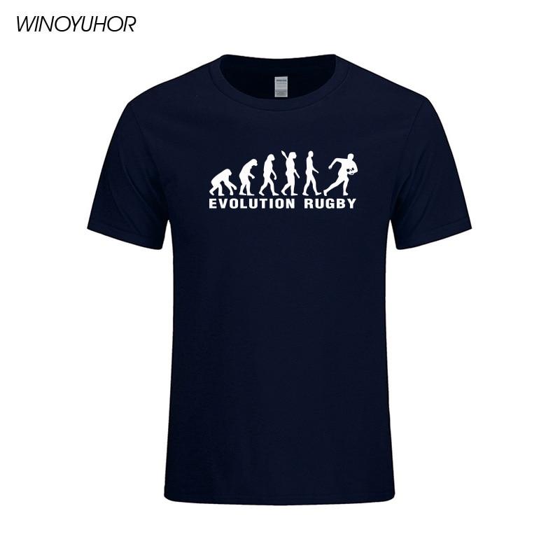Evolución Rugby Impreso Algodón Camisetas Hombre Casual Manga Corta - Ropa de hombre - foto 3