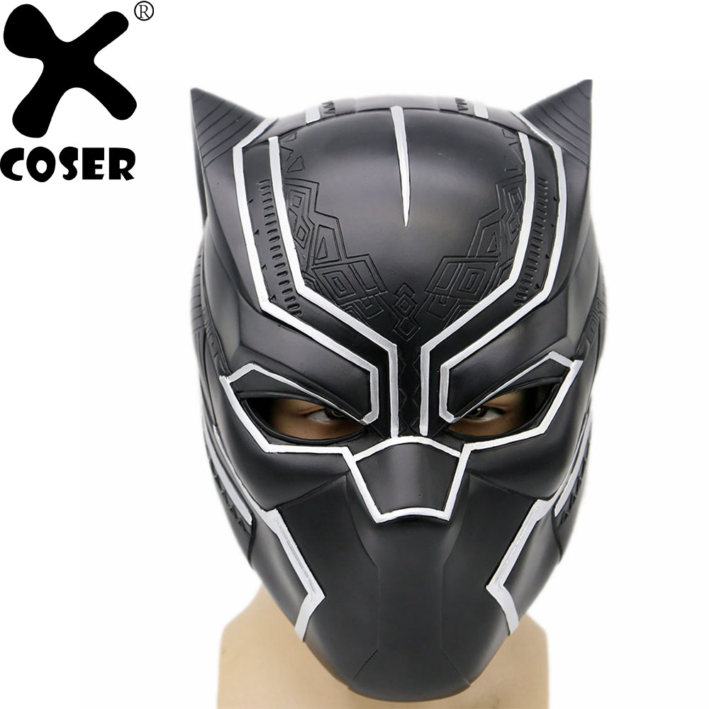 XCOSER Captain America Black Panther Mask Resin Helmet Props Costume Cosplay Halloween Party Cool Cosplay Accessories Mask