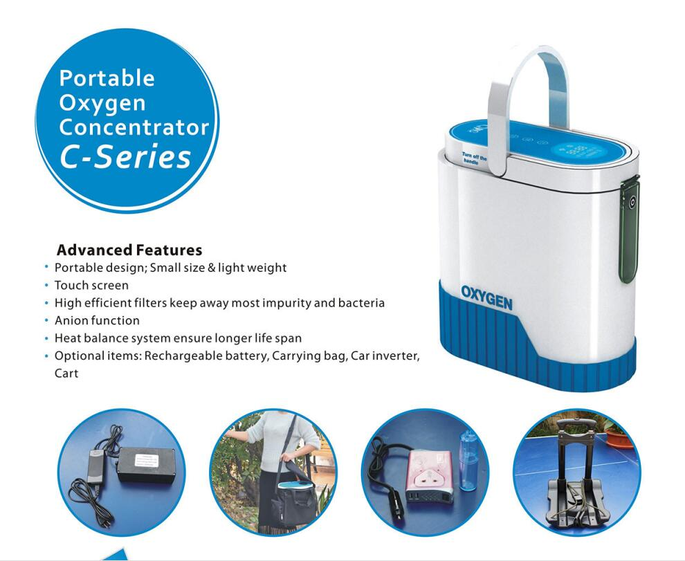 New Arrival portable oxygen concentrator/oxygen generator/home use oxygen concentrator for COPD/travel/car use