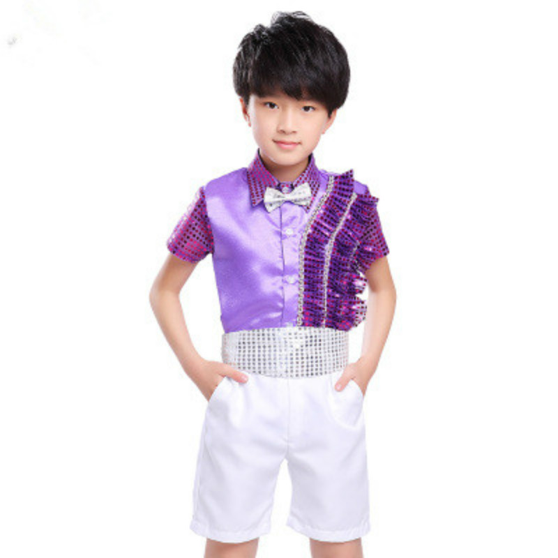 Fashion International Children's Day Dance Costumes Girls Princess Dress Boys Sets Choral Performance Suits For Kids 100 170cm