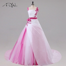 Jiayigong แต่งงานใหม่ชุดเดรสแขนกุด Beaded Sequin Applique A Line Tulle และ Taffeta Gowns แต่งงานชุดเจ้าสาว