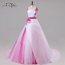 Jiayigong New Arrival Wedding Dresses Sleeveless Beaded Sequin Applique A line Tulle and Taffeta Wedding Gowns Bride Dress