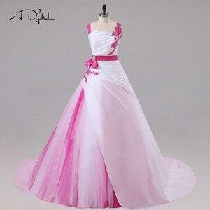 Image 1 - Jiayigong 새로운 도착 웨딩 드레스 민소매 페르시 아플리케 a 라인 tulle과 Taffeta 웨딩 드레스 신부 드레스