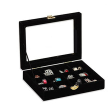 New 2014 Free Shipping jewelry display casket / jewelry organizer earrings ring box /case for jewlery gift box Jewelry Box(China)