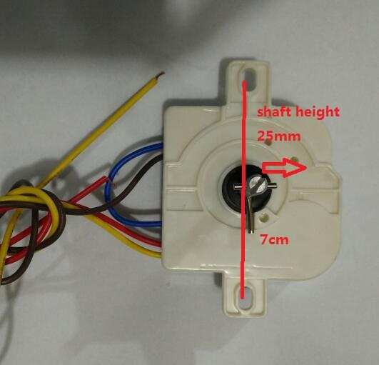 3 wires 15 mintues washing machine timer with double ears install distant  for 6 5-7 2mm
