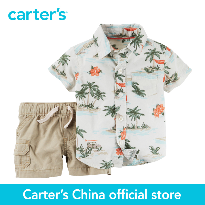 Carter's 2 pcs baby children kids Short-sleeve Top shirt&Shorts 127G135, sold by Carter's China official store