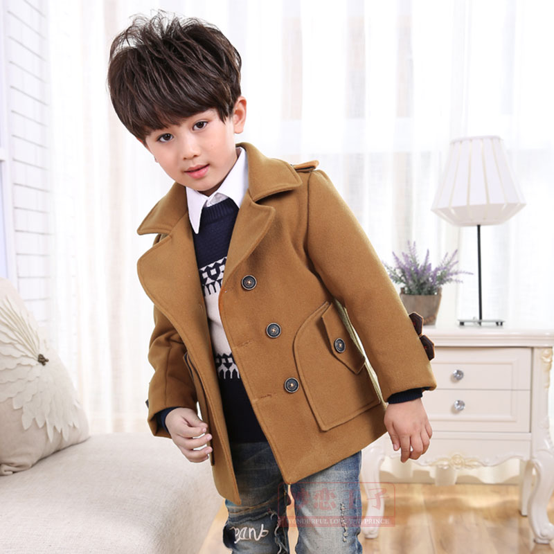 1d495c603 US $29.99 40% OFF|High quality New Boys Winter Coat Fashion Double Breasted  Solid Navy Wine Red Kids Wool Coats Jacket Boys Children Outerwear-in Wool  ...