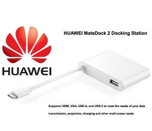 Image 2 - Original HUAWEI MateDock 2 Laptop Docking Station suitable to Mate20 Pro X MateBook D X Pro E Notebook Data Transfer Cable