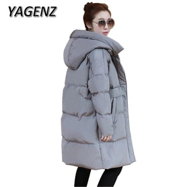 823a021be 2018 mujeres embarazadas Abrigos de plumas con capucha de algodón de  invierno chaqueta caliente Abrigos Corea