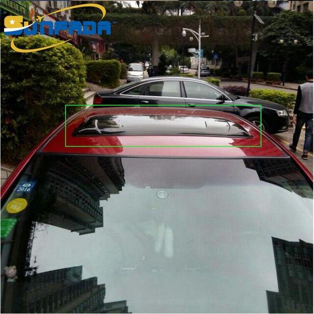 Universal Black Translucent Car Top Window Skylight Rain Shade
