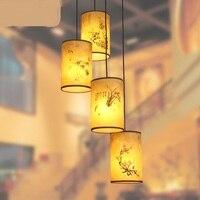 Китайский стиль деревянная вилла 3 античная подвесные светильники головы винтовая лестница лампа вращающийся ресторан лампы ZS71
