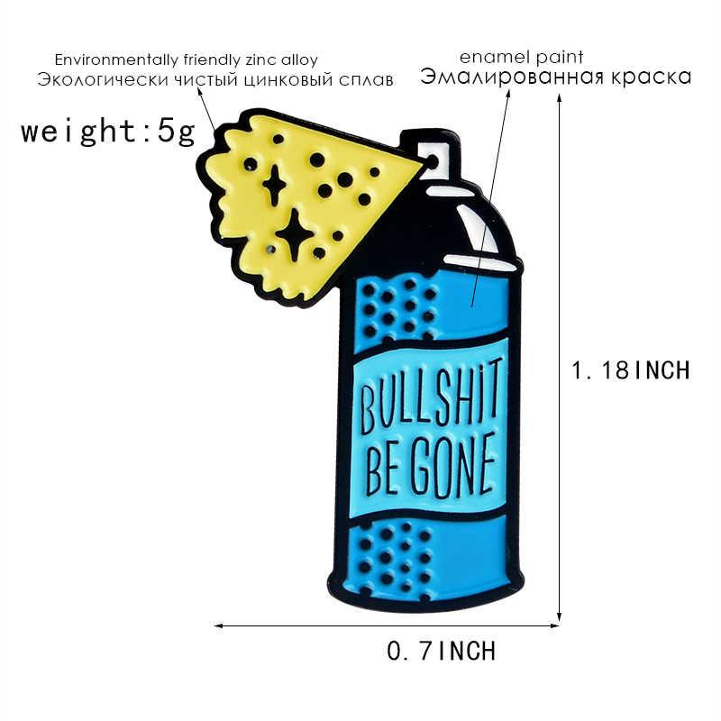 """2019 Kartun Omong Kosong Pergi """"Botol Spray Biru Bros Cleaner Spray Enamel Pin Mantel Lencana Hadiah untuk Teman-teman perhiasan Aksesoris"""