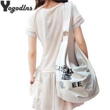 2021 Korean Über Schulter Tasche Frauen Weibliche Unregelmäßigen Umhängetasche Mädchen Leinwand Handtasche Damen Umhängetasche Große casual Bag