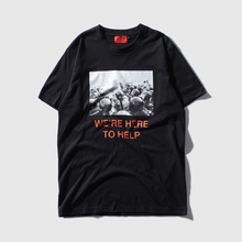 Kanye West Streetwear T shirt Men 2017 Summer Casual 424 Military War Riot Police Printing Cotton Short Sleeve Swag Tee Shirts
