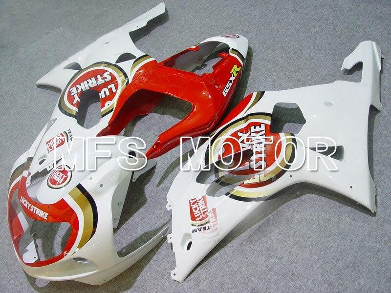 Формы для Suzuki GSXR600/750 K1 и K2 2001 2002 2003 01 02 03 литья ABS обтекатель комплекты - Лаки Страйк - белый/красный
