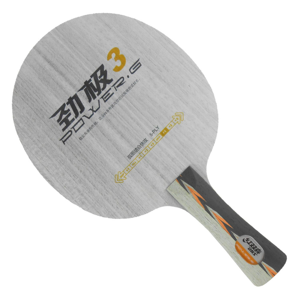 ФОТО DHS POWER.G3 PG3 PG 3 PG.3 5-Playwood OFF+ Table Tennis Blade for Ping Pong Racket