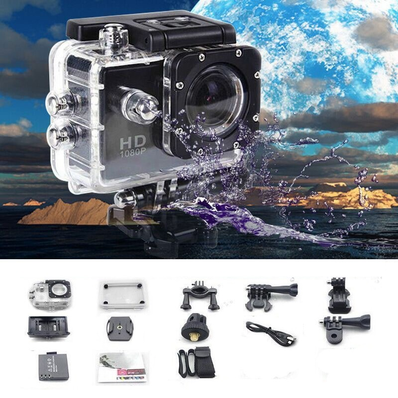 2018 Newest 1080P Full HD Action Sport Mini Camera Outdoor Waterproof gopro style go pro 2 Screen Cam Camcorder DV Driving