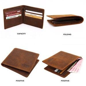 Image 5 - JEEP BULUO الفاخرة العلامة التجارية الرجال محافظ الأعمال البقر جلد أصلي للرجال بطاقة حافظة نقود أعلى جودة قصيرة Carteira الغمد