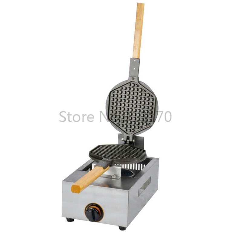 Gas Waffle Maker Hexagon Shaped Waffle Baker Machine Stainless Steel Street Snack Device Non-stick Cooking SurfaceGas Waffle Maker Hexagon Shaped Waffle Baker Machine Stainless Steel Street Snack Device Non-stick Cooking Surface