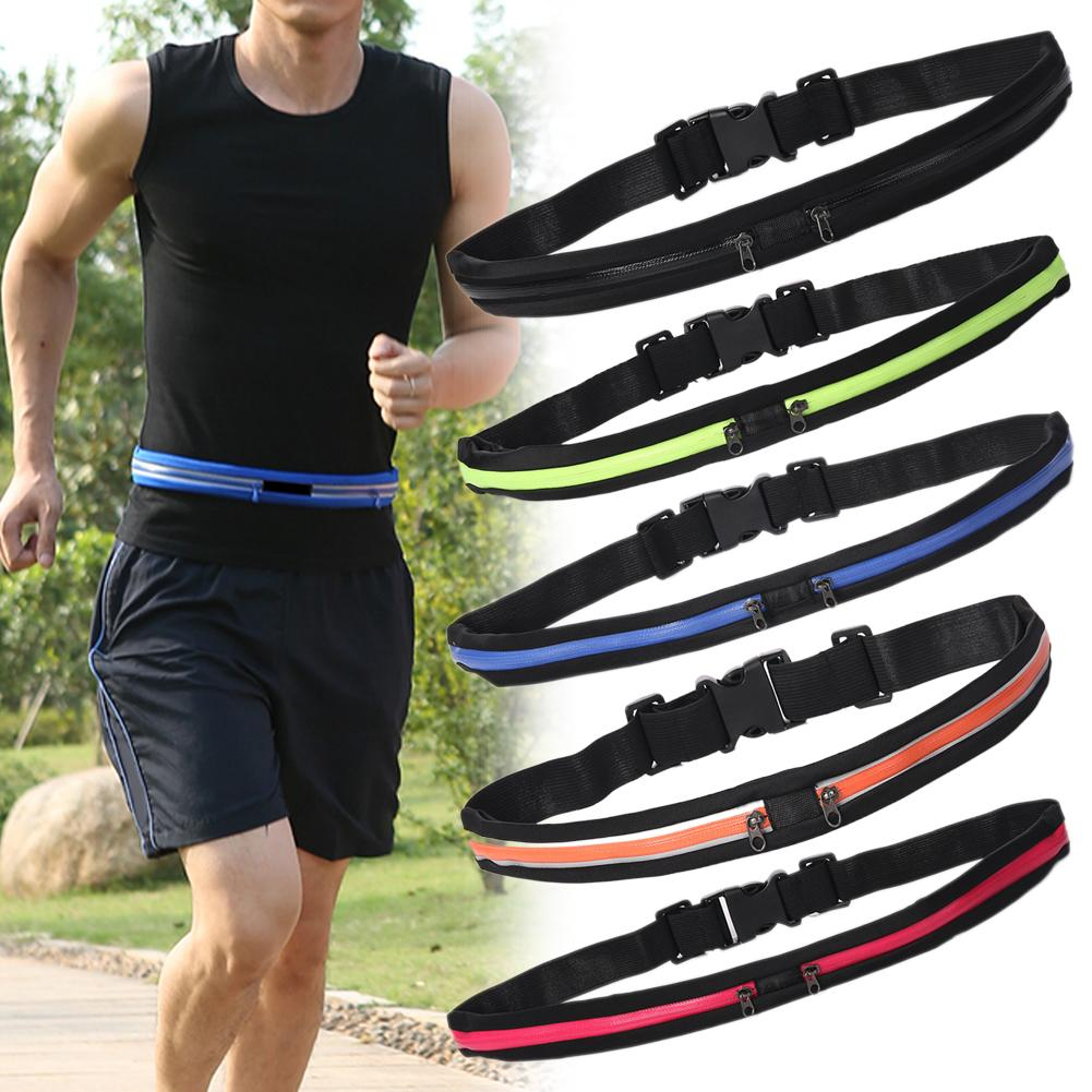 Sports Running Fitness Unisex Anti-theft Invisible Stretch Waist Belt Phone Bag