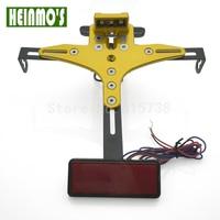 Adjustable Motorcycle Tail light+License plate Lamp Number Plate Frame Holder Bracket Mount For Z800/Z1000 MT07 MT 09 R1/R3