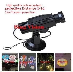 Высококачественная светодиодная рекламная проекционная лампа, светодиодная проекционная лампа с логотипом 12 Вт, вращающаяся проекционная...