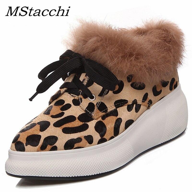 Black Dentelle Neige Mstacchi Croissante Femmes Femme Imprimé Hauteur Vache Chic Casual Up Boot leopard Pointer Daim En Chaud Toe Léopard Print Coins 2019 Chaussures wwrHqzEC1