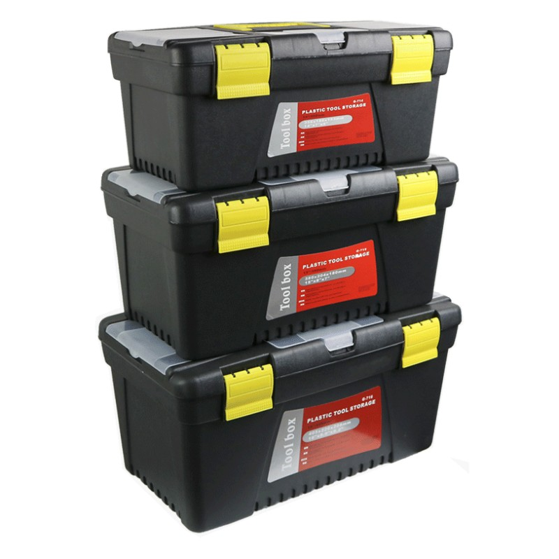 Double Layer Toolbox Household Maintenance Electrician Tool Box Multifunctional ABS Hardware Car Repair Thicken Antifall Toolbox
