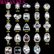 2018New 3D Big Diamond Nail Art Decorations With Rhinestones ,Alloy Charms,Jewelry On Nails Salon Supplies 2099-2122(50pcs)