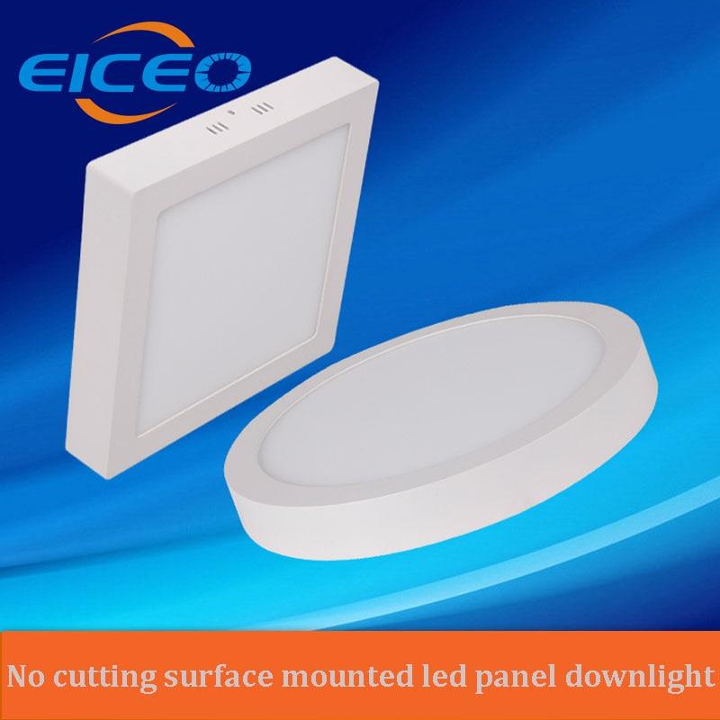 (EICEO) Panneau lumineux à LED 6W / 12W / 18W / 24W Rond / Panneau - Éclairage LED
