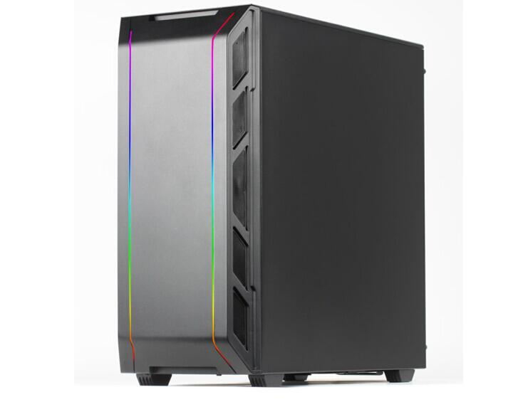 PHANTEKS P350X Desktop computer water-cooled chassis (Symphony Light Control/E-ATX motherboard support) with TT TR2 1000W power sama future warrior computer chassis transparent desktop game atx water cooled chassis