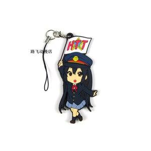 Image 2 - Nakano Azusa Hirasawa Yui Akiyama Mio Tainaka Ritsu K ON Sawako Yamanaka Anime Action Figure Modelo de Borracha Chaveiro Pingente 6cm