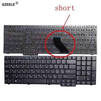 GZEELE-teclado para ordenador portátil, nuevo diseño ruso y negro para ACER Aspire...