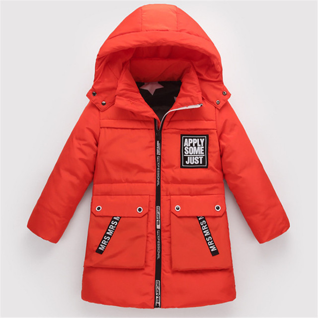 ad8fffaea Boys Down Jackets 2017 Winter New Coat Thick Long Warm Outerwear ...