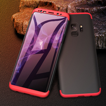 3 In 1 Case for Samsung Galaxy S9 360 Full Protection Armor Anti-fingerprint Hard Matte Plus S9+ Cover