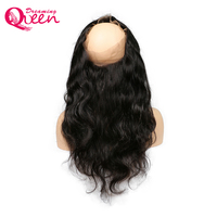 360 Lace Frontal Closure Brazilian Body Wave Human Hair Pre Plucked Closure Free Part With Baby Hair Dreaming Queen Remy Hair