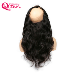 360 lace frontal closure brazilian body wave human hair pre plucked closure free part with baby.jpg 250x250