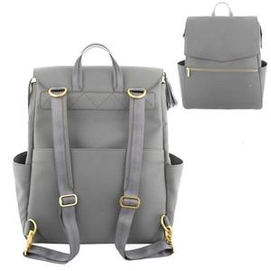 Image 4 - Сумка для детских подгузников из искусственной кожи, рюкзак большой емкости, рюкзак для подгузников, дорожная сумка для мам, сумка для детских колясок