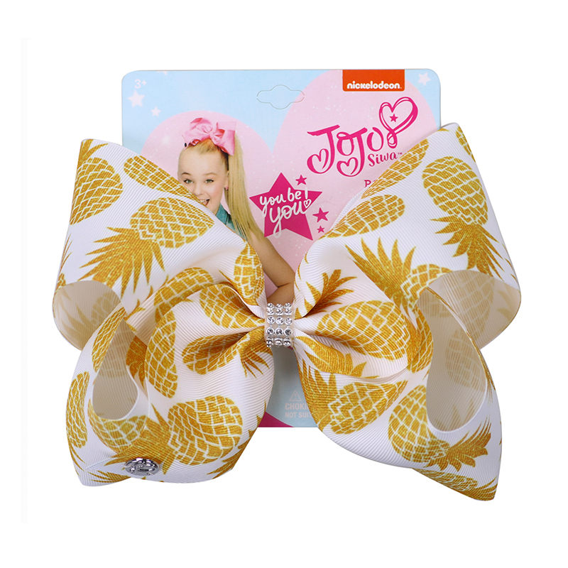 "8"" jojo bows girls hair accessories"