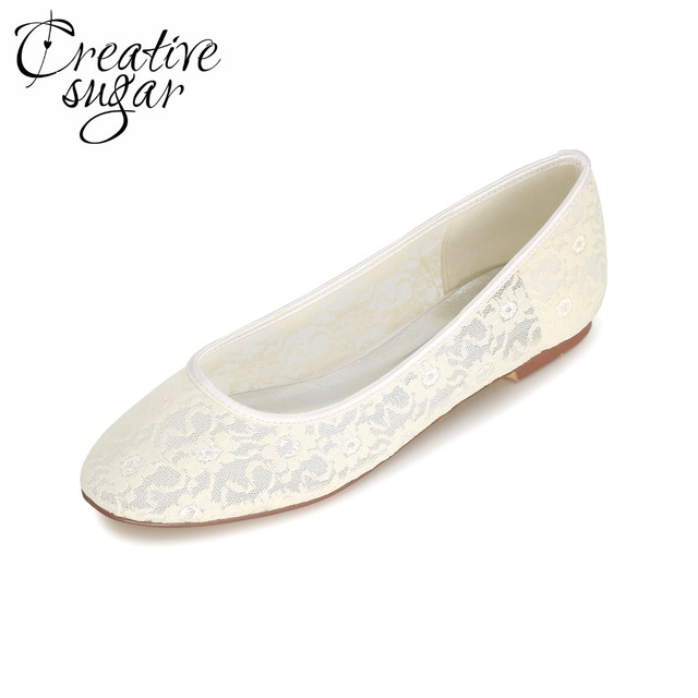 27f91dc568d8 Creativesugar perspective see through lace ballet flat fashion rubber sole  rounded toe lady shoes pink white black tangerine