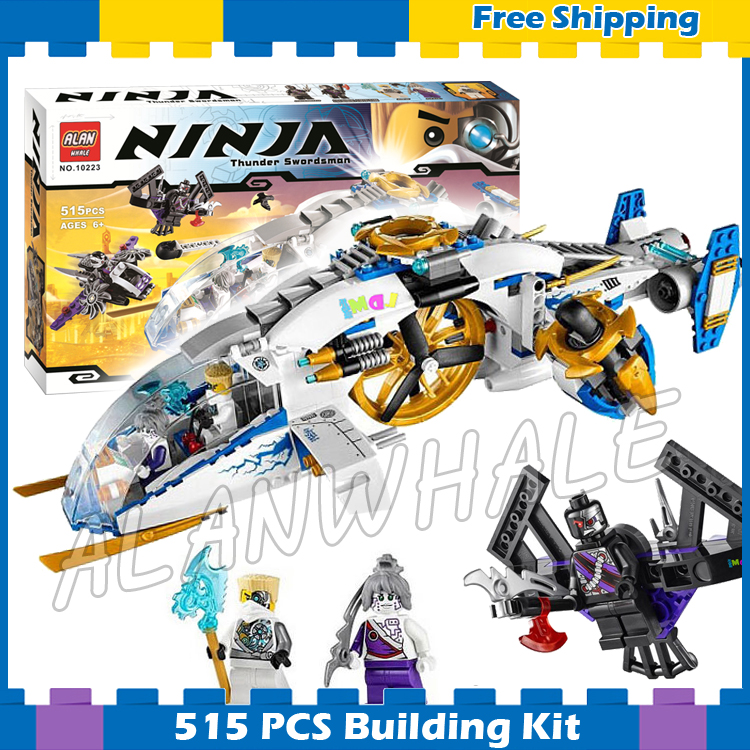 515pcs Bela 10223 Ninja Copter Toy aircraft Assembled Building Blocks Toys Compatible With Lego new bela 10530 ninjagoes toy building blocks phantom ninja chaos samurai cave 1307pcs 70596 06039 gift boy set