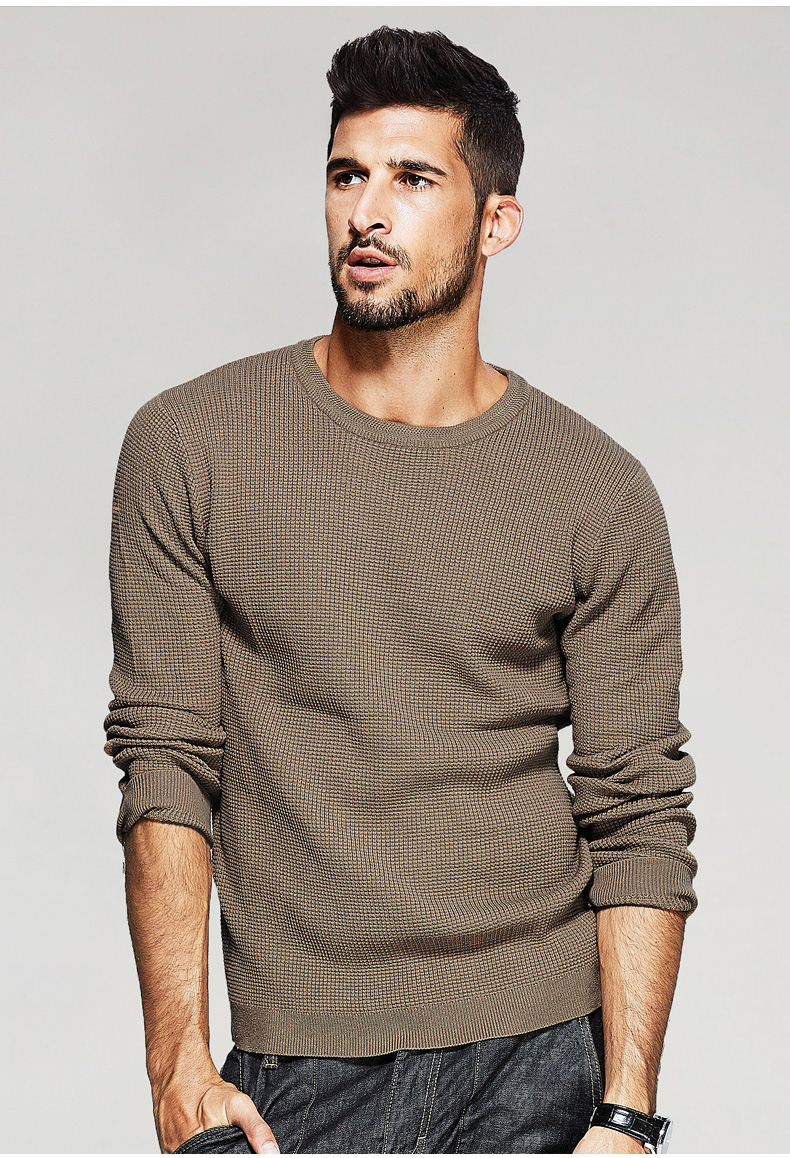 Free shipping fashion O-neck long sleeve pullovers and sweaters for men 17002