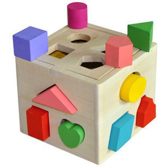 Wynlzq 13 Holes Intelligence Box Shape Sorter Cognitive