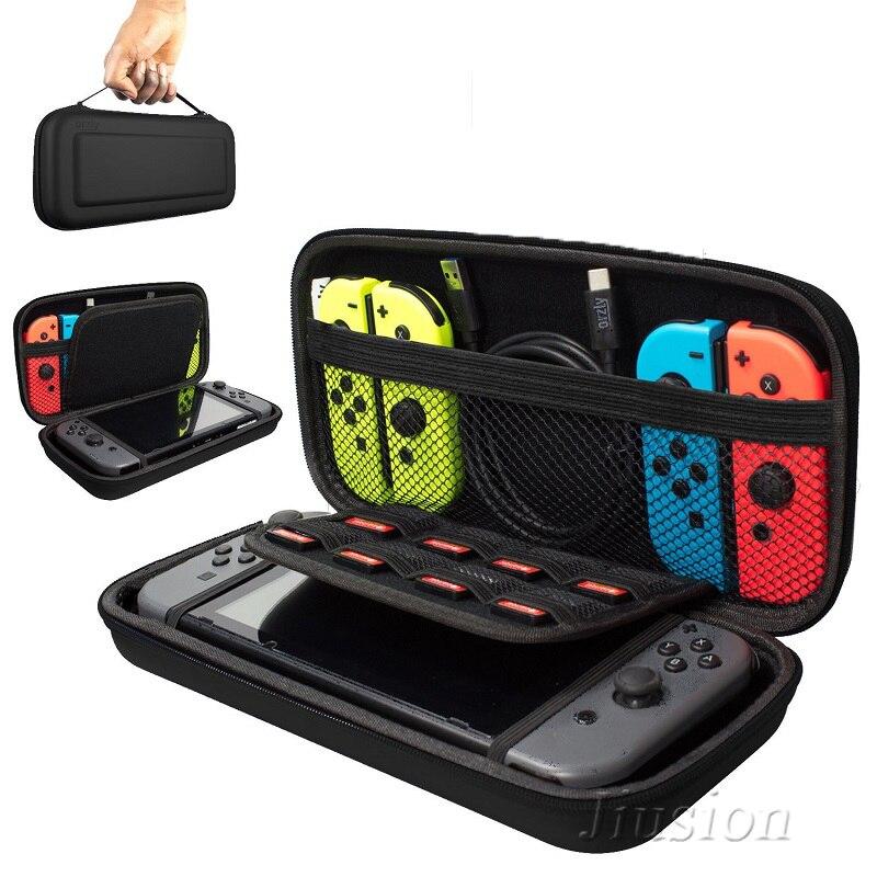 Coque rigide Portable pour interrupteur résistant à l'eau sac de rangement EVA pour accessoires de Console Nitendo Switch NS