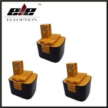 Eleoption 3 pcs 12V 3.0Ah 3000mah Ni-Mh Power Tool Battery Pack for Panasonic Cordless Drill EY9001 EY9101 EY9108 EY9201B EY9200