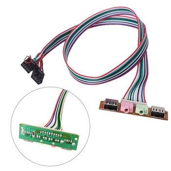 1pcs 2 USB 2.0 AUDIO Mic headphone earphone 3.5mm plug PC case panel cable cord Desktop chost case Front I/O Panel
